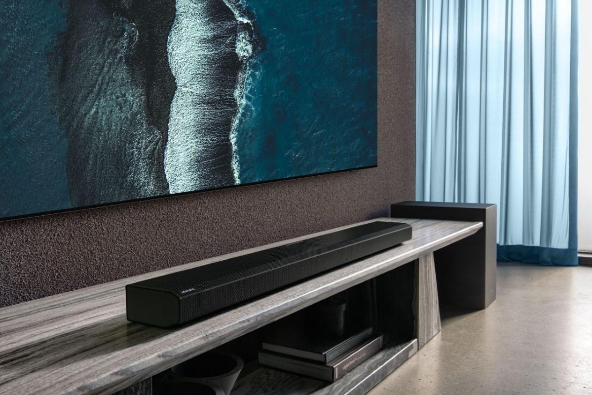 Soundbar Samsunga w salonie