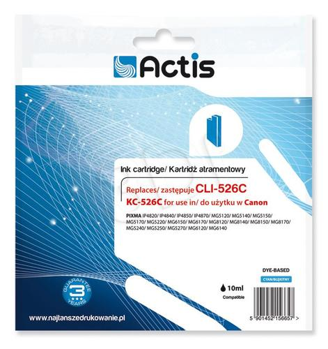 Actis KC-526C tusz cyan do drukarki Canon (zamiennik Canon CLI-526C) Supreme