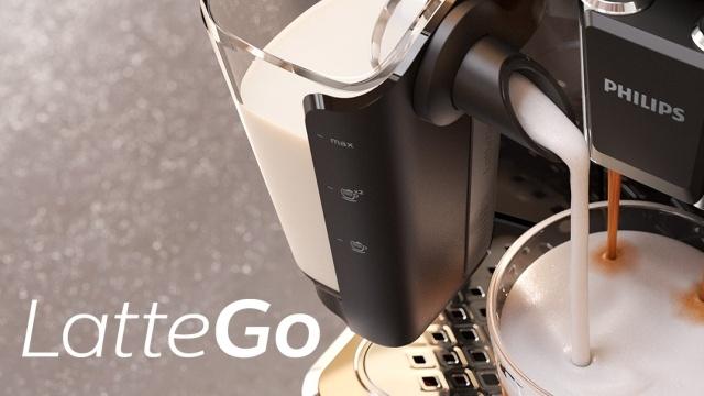 Philips LatteGo Premium EP3243/50 ma łatwy do czyszczenia zbiornik mleka