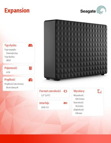 Seagate STEB4000200 4TB 3,5'' USB3.0 Backup Plus