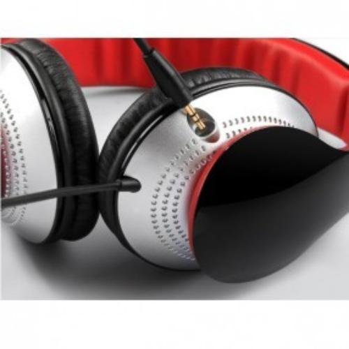 Edifier Słuchawki przewodowe nauszne z mikrofonem K830 czarno czerwone/ odpinany mikrofon / regulacja głośności