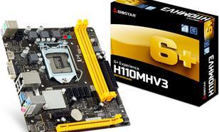 Biostar H110MHV3, H110, DDR3, SATA3, USB 3.0, microATX
