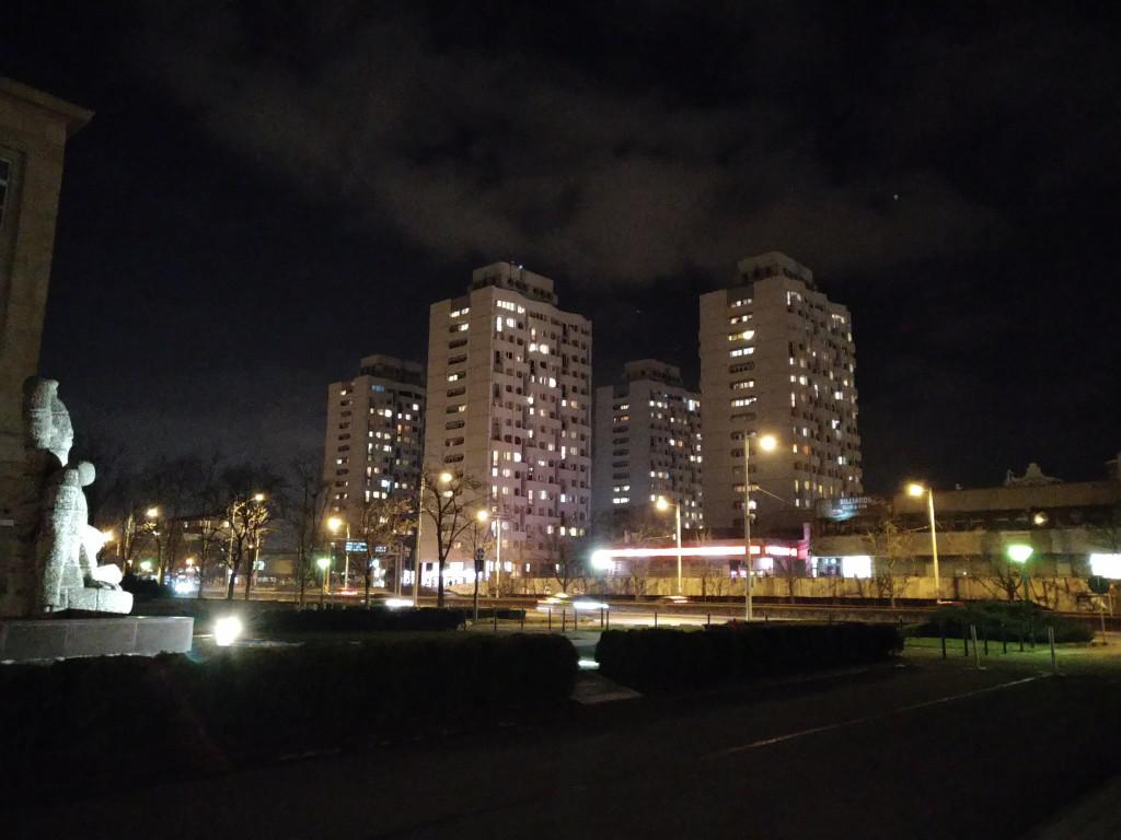 Zdjęcie wykonane nocą w trybie automatycznym