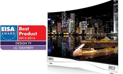 Telewizor LG OLED z zakrzywionym ekranem zdobywa nagrodę EISA 2013 za innowacyjne wzornictwo