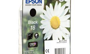 EPSON Tusz Czarny T1801=C13T18014010, 175 str., 5.2 ml