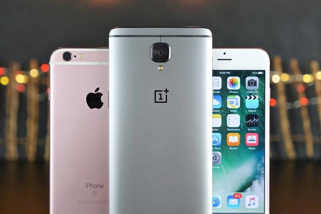 iphone 7 - oneplus 3 starcie gigantów