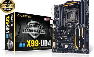 Gigabyte X99, QuadDDR4-2133, SATA Express, SATA3, RAID, ATX (GA-X99-UD4)