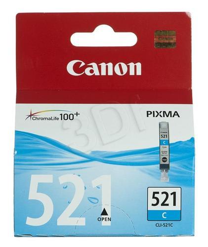 CANON Tusz Niebieski CLI-521C=CLI521C=2934B001, 350 str., 9 ml