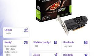 GeForce GTX 1050 OC Low Profile 2GB DDR5 128BIT 2x HDMI/DP/DVI-D