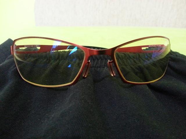 Okulary Gunnar Sync red Fire Amber przód