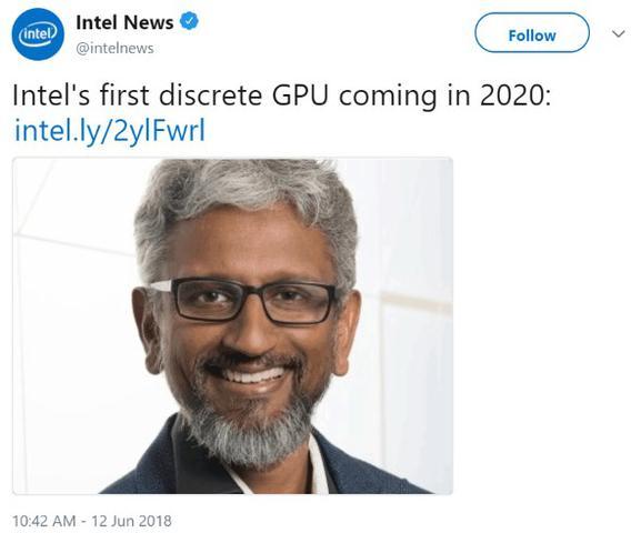 Oficjalna notka z Twittera Intela.