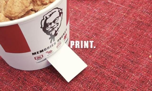 Szalony Pomysł KFC - Kubełek Wydrukuje Zdjęcia