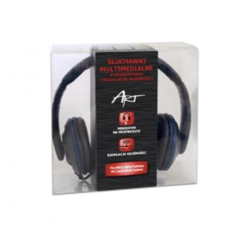 ART Słuchawki AP-57 z mikrofonem na przewodzie do tabletów i smfonów