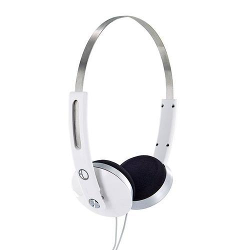 4World Słuchawki stereo nauszne biale,Super Bass,COLOR 08248