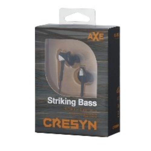 Cresyn Axe C415E Black Stylowe Słuchawki dokanałowe