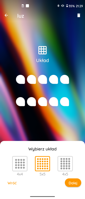 Wybór układu ikon My UX