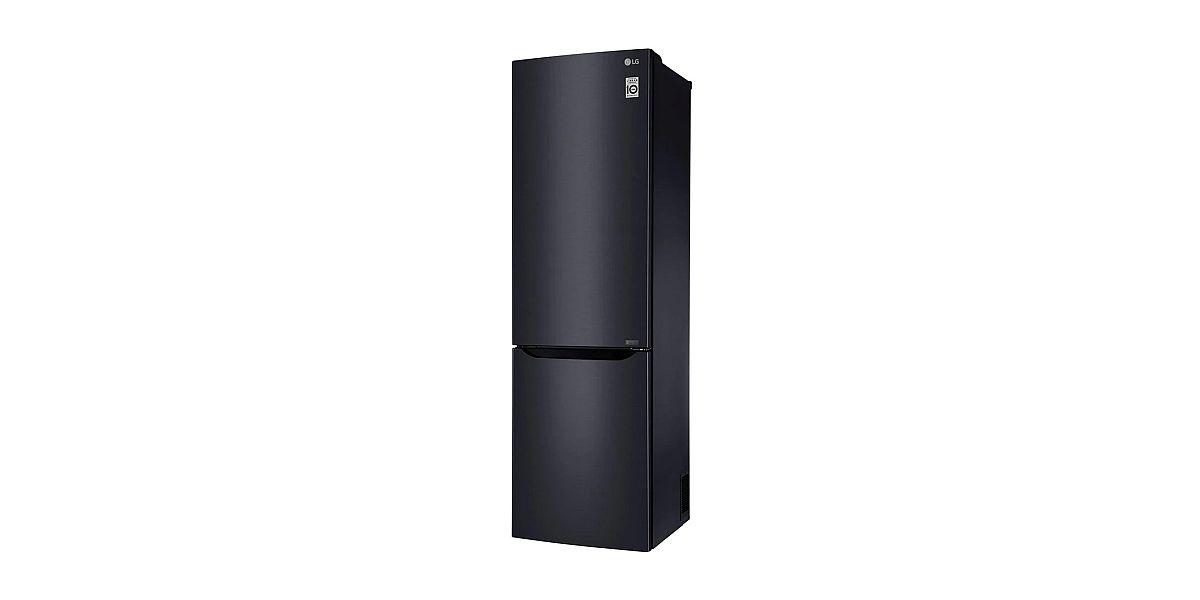 czarna lodówko-zamrażarka LG