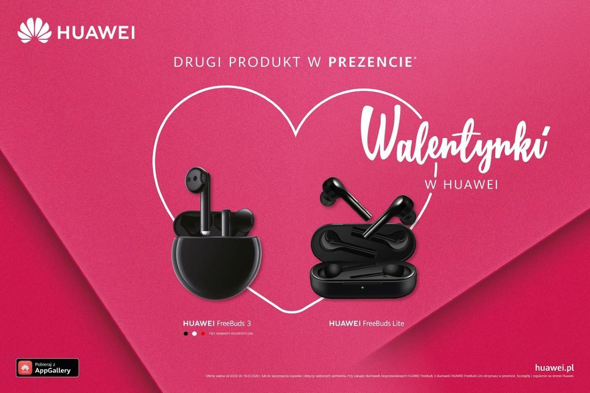 Huawei grafika promocyjna do akcji z Freebuds lite