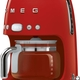 Smeg Ekspres do kawy, przelewowy, czerwony Smeg DCF02RDEU