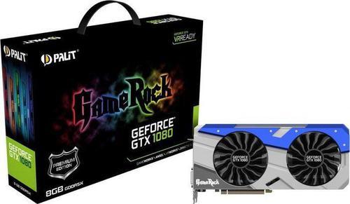 Palit Palit GeForce GTX 1080 GameRock Premium Edition 8GB GDDR5X (256 Bit) HDMI, DVI, 3xDP, BOX (NEB1080H15P2G)