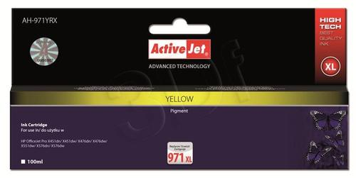 ActiveJet AH-971YRX tusz żółty do drukarki HP (zamiennik HP 971XL CN628AE) Premium