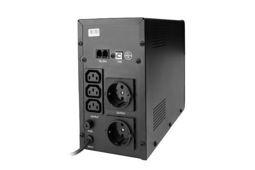 GEMBIRD UPS LINE-INTERACTIVE 1200VA 3X IEC, 2X SCHUKO 230V, USB, RJ11 IN/OUT, LCD