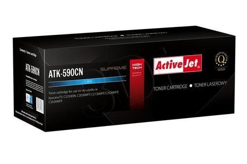 ActiveJet ATK-590CN toner Cyan do drukarki Kyocera (zamiennik Kyocera TK-590C) Supreme