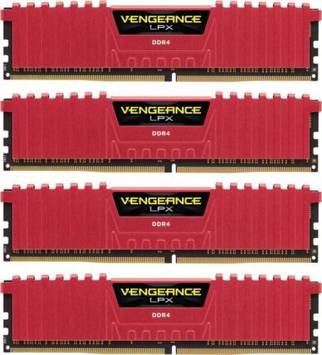 Corsair Vengeance LPX DDR4, 4x8GB, 3733MHz, CL17, Czerwony (CMK32GX4M4B3733C17R)