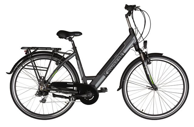 Rower elektryczny od Kawasaki - model przeznaczony dla kobiet.