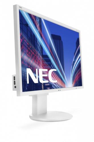 NEC 24'' MS EA244WMi IPS, W-LED, DVI, biały