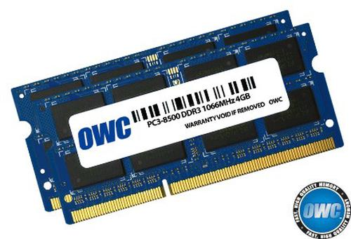 SO-DIMM DDR3 2x4GB 1066MHz CL7 Apple Qualified
