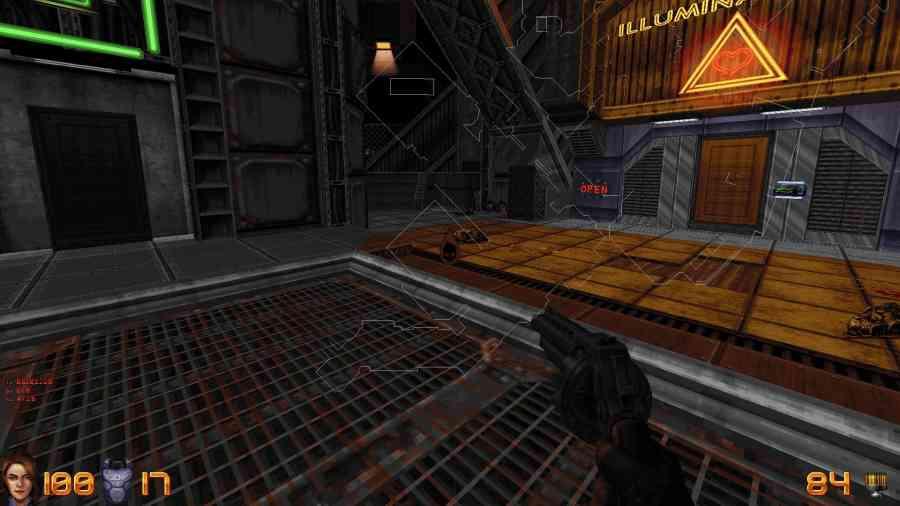 Ion Fury - Mapa jest od razu wbudowana w grę