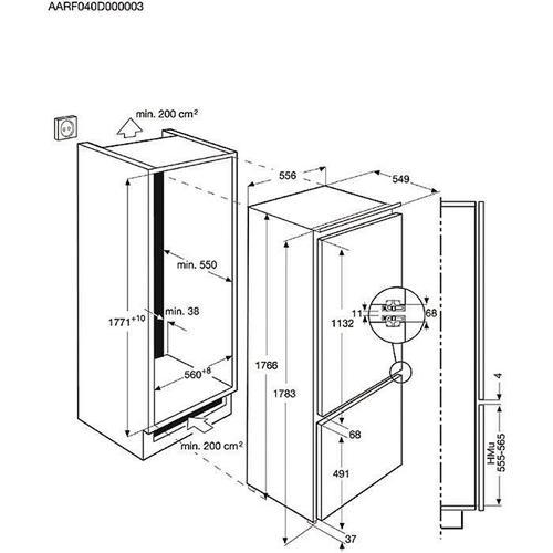 Electrolux Chłodziarko-zamrażarka ENG2793AOW