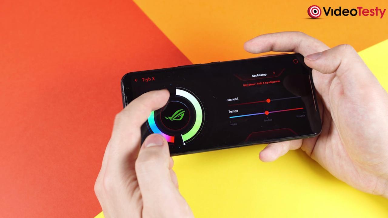 W trybie X skontrolujemy kolor, na jaki zaświeci się logo ROG