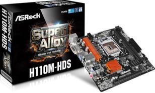 Płyta główna ASRock H110M-HDS, H110M, DDR4, SATA3, USB 3.0, mATX (90-MXB150-A0UAYZ)