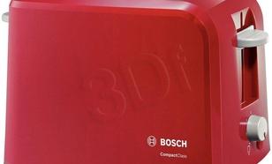 Toster Bosch TAT3A014 (980W/Czerwono-jasnoszary)