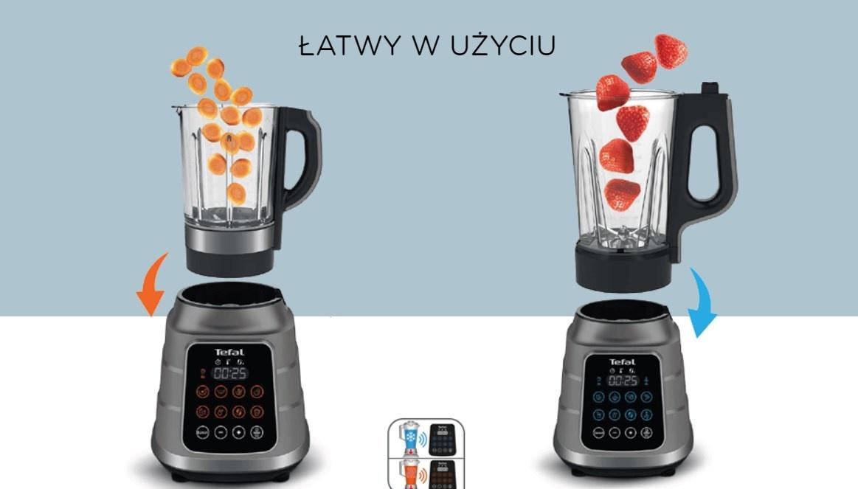 Tefal Ultrablend Boost Vacuum potrafi też podgrzewać potrawy