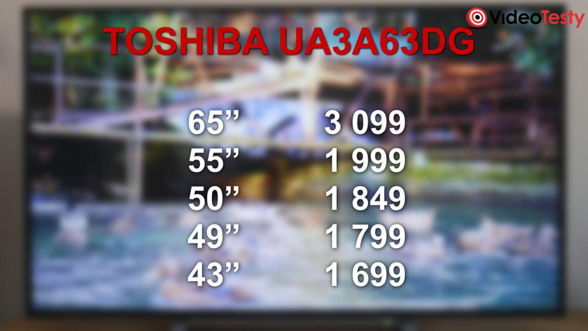 Toshiba 55UA3A63DG ceny wszystkich wariantów