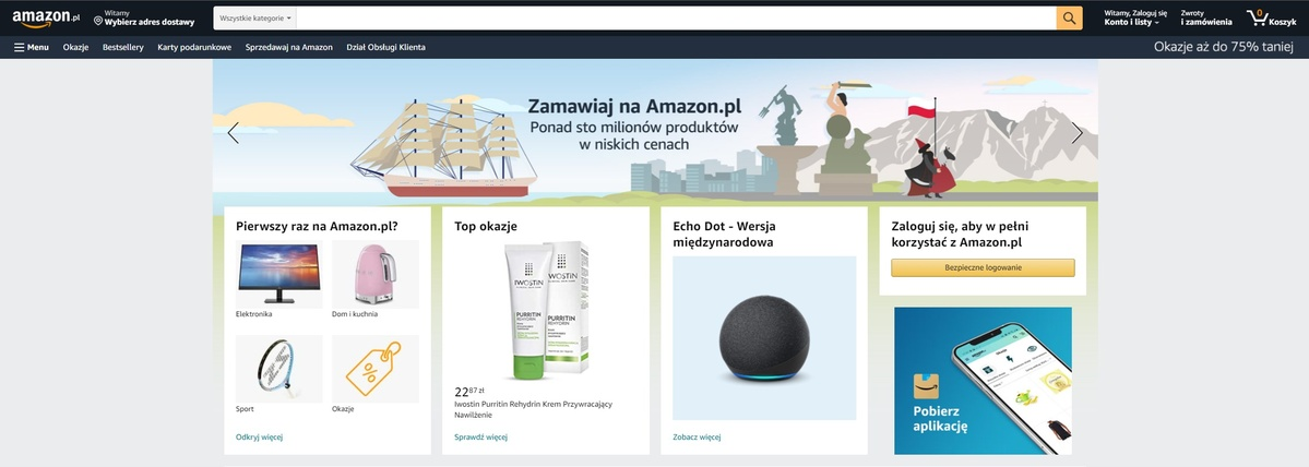 Amazon.pl w obecnej formie nie przyciąga
