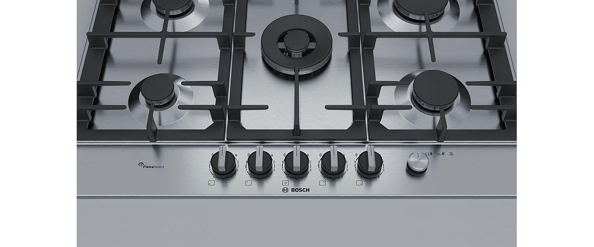 płyta gazowa ze stalową powierzchnią Bosch