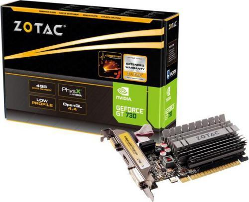 Zotac GeForce GT 730 Zone Edition 4GB DDR3 (64 bit) HDMI, DVI, VGA, BOX (ZT-71115-20L)
