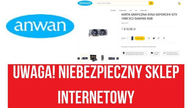 Uwaga na zakupy w sklepie anwan.pl!