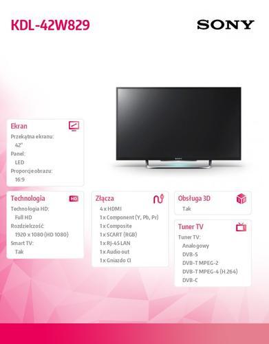 Sony 42'' LED KDL-42W829