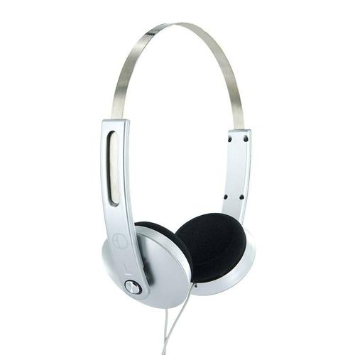 4World Słuchawki stereo nauszne srebrne,Super Bass,COLOR 08249