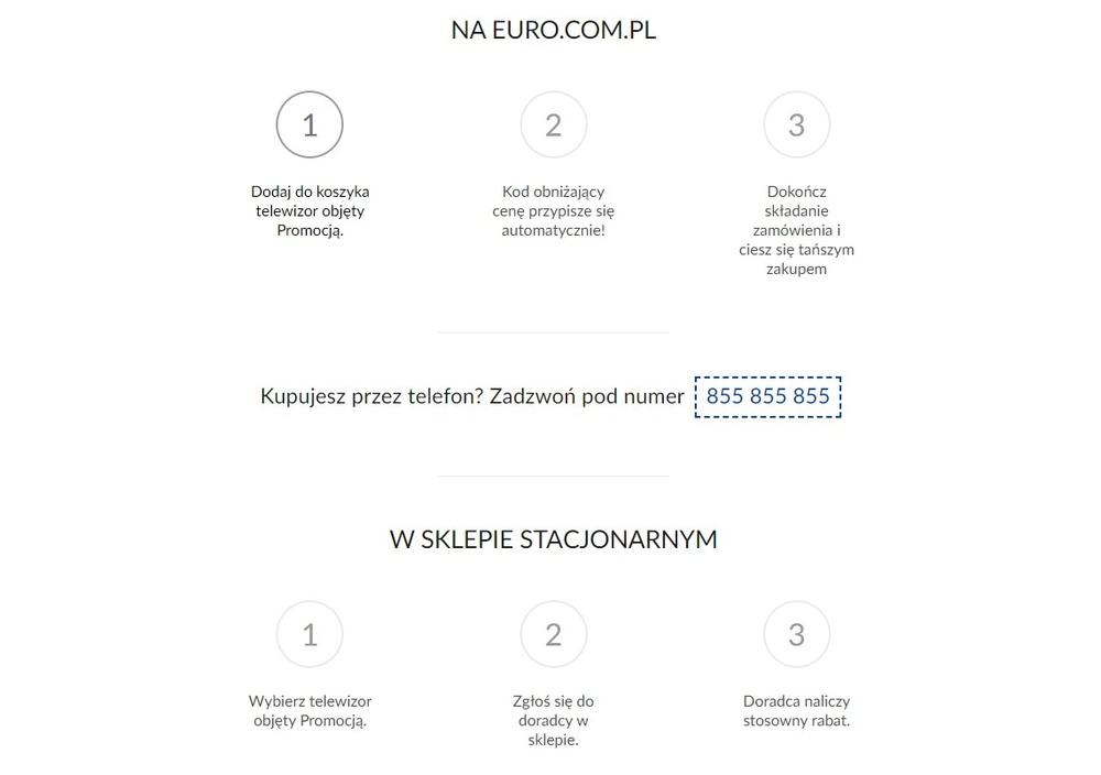 Telewizory taniej o wartość podatku VAT w RTV Euro AGD