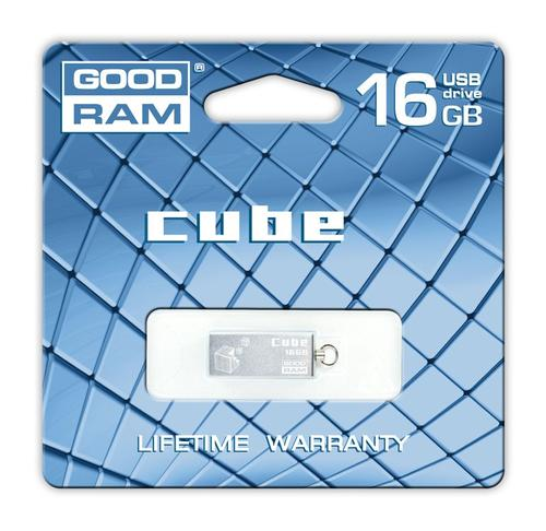 GoodRam Cube 16GB USB 2.0 Srebrny