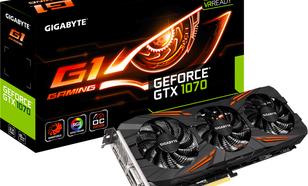 Gigabyte GeForce GTX 1070 8GB GDDR5 (256 bit) HDMI, DVI-D, 3x DP, BOX (GV-N1070G1 GAMING-8GD)