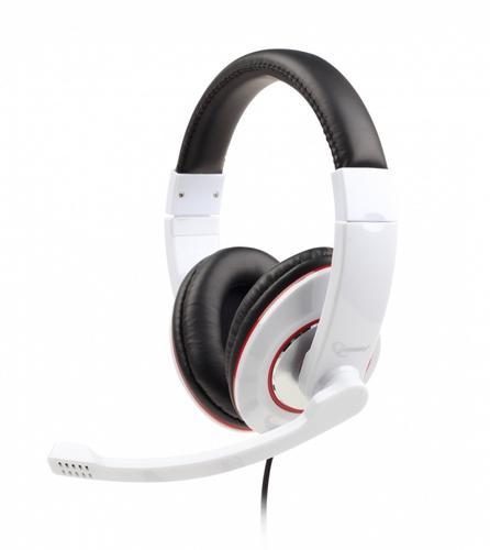 GEMBIRD Słuchawki z mikrofonem MHS-001-GW biało czarne