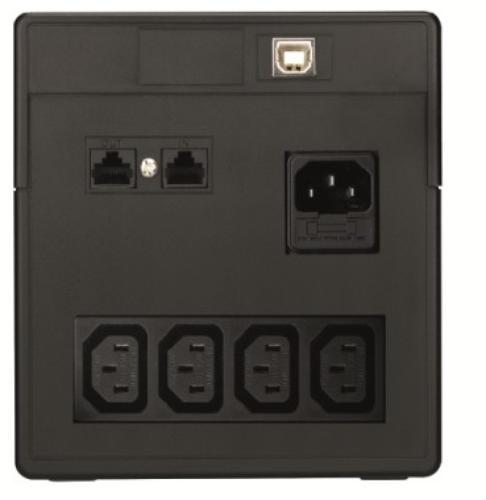 Lestar UPS V-1000 AVR LCD 4xIEC USB RJ 45