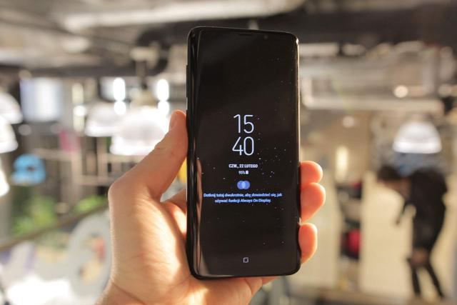 Przód Samsunga Galaxy S9 Plus